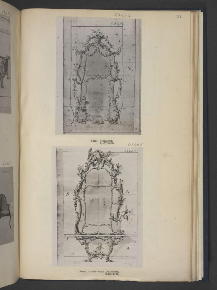 Design for a pier-glass for Sir Monoux Cope, 7th Baronet top image