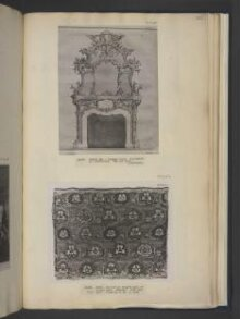 A design for a rococo chimney piece which appeared as plate no.179 in The Gentleman and Cabinet-Maker's Director (1762 ed.), Thomas Chippendale thumbnail 1