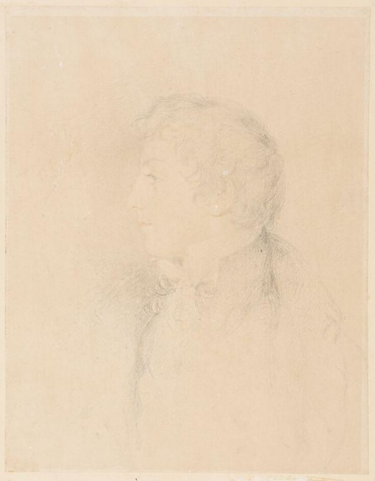 Portrait head of a young man, possibly William Lock III of Norbury (1804-1832) top image