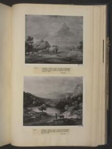 Wooded Upland Landscape with Shepherd, Donkey and Scattered Sheep, Lake and Distant Village and Hills thumbnail 1