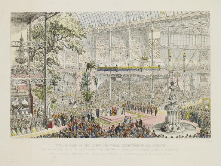 The opening of the Great Industrial Exhibition of All Nations top image