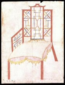 Design for an armchair for the 4th Duke of Beaufort thumbnail 1