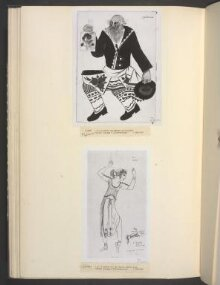 Costume design for 'Le Coq d'Or', Russian Peasant with a Flask of Vodka. thumbnail 1