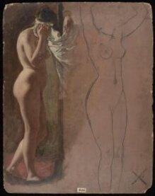 Study of a Nude Female Figure thumbnail 1