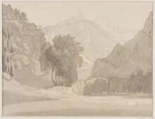 Between Weesen and Glarus after Francis Towne  thumbnail 1