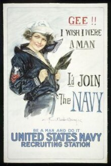 Gee!! I Wish I Were a Man, I'd Join The Navy. Be a man and do it. thumbnail 1