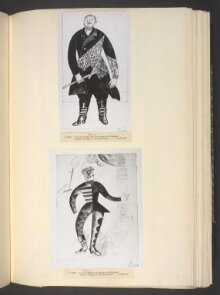 Design for the costume of the Chief Clown (Le Buffoon) in the ballet Chout thumbnail 1