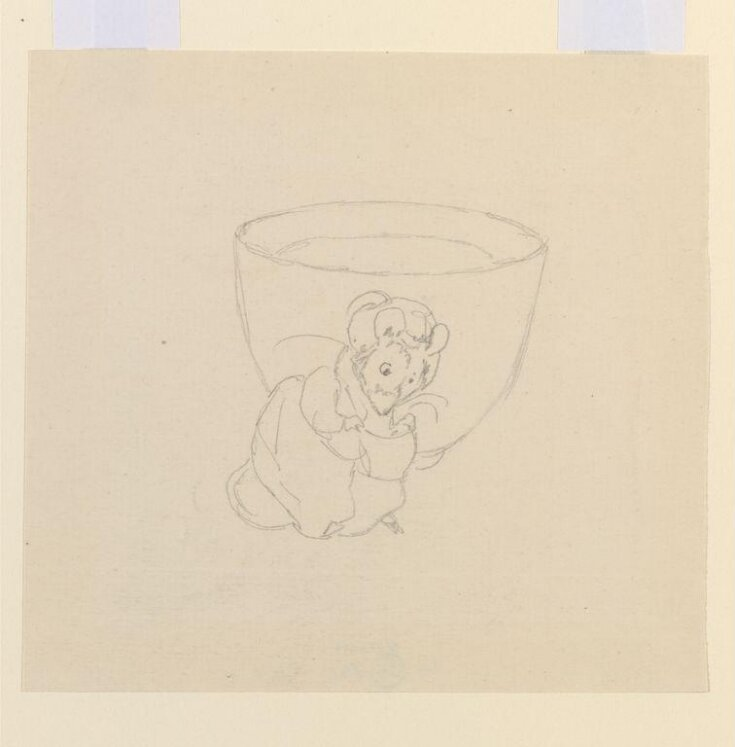 Lady Mouse curtseying beside a teacup top image