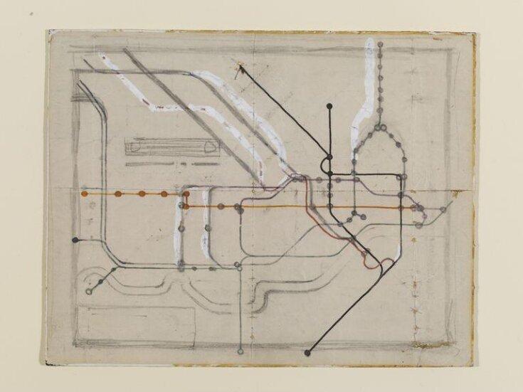 Original sketch for the London Underground Railways Map top image