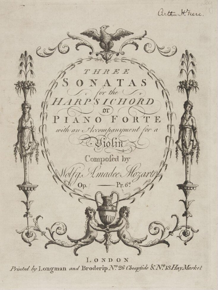 The Sonatas for the Harpsichord or Piano Forte with an Accompanyment for a Violin top image