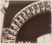 Portico de la Gloria; Archivolt of Central Doorway (Left) thumbnail 1