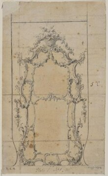 Design for a pier-glass for Sir Monoux Cope, 7th Baronet thumbnail 1