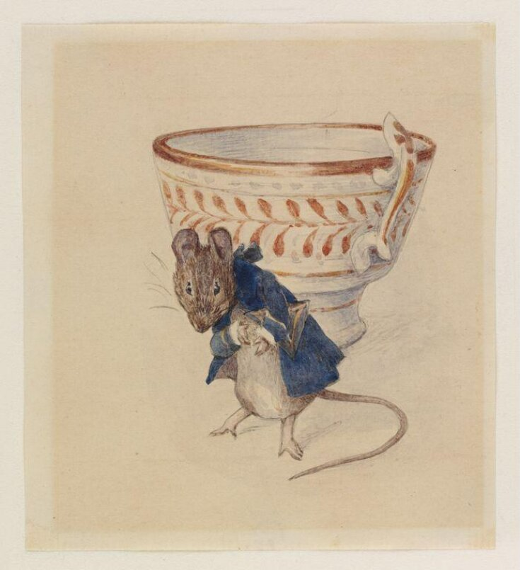 Gentleman mouse bowing beside a teacup top image