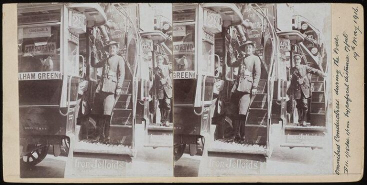 Bus conductresses during World War I top image