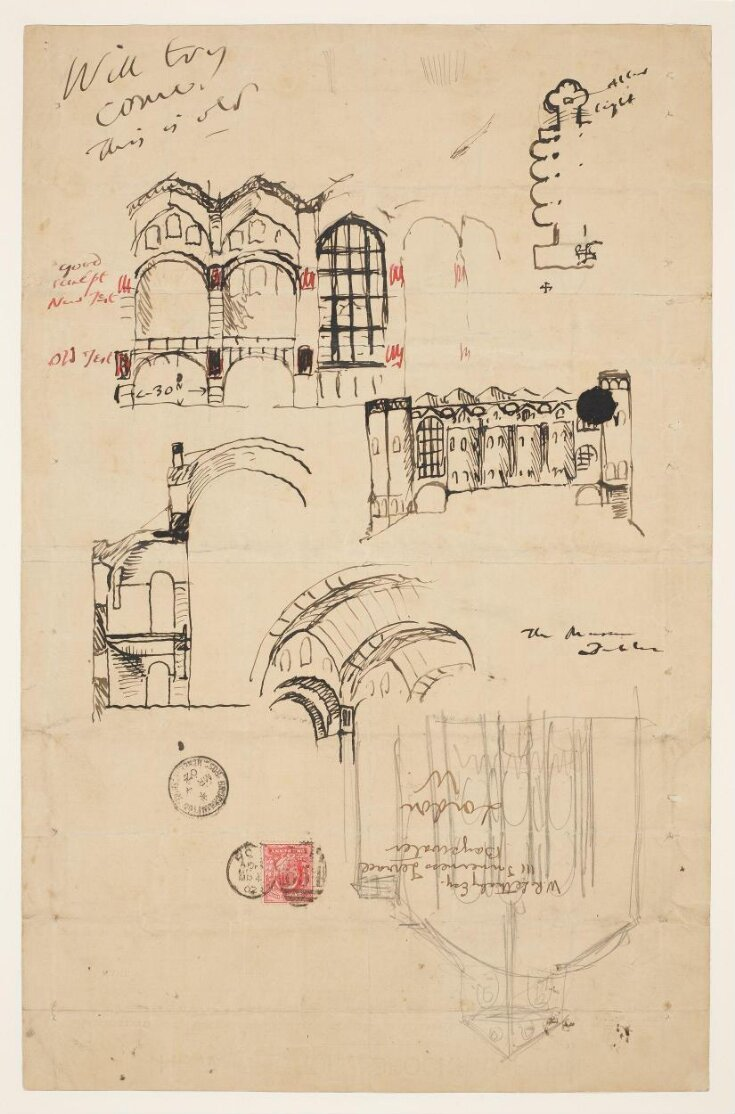 First sketches for Liverpool Cathedral top image